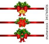 christmas festive decoration... | Shutterstock . vector #341760656