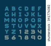 maze tech letters linear style... | Shutterstock .eps vector #341776382