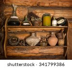 Grunge Storage Cupboard In Hut...