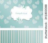 classic romantic invitation or... | Shutterstock .eps vector #341803088