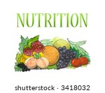 summer cocktail  nutrition | Shutterstock . vector #3418032