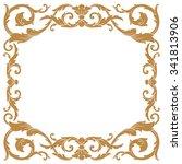 premium gold vintage baroque...   Shutterstock .eps vector #341813906
