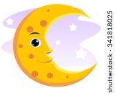 smiling moon | Shutterstock .eps vector #341818025