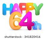 happy 64th title in big letters | Shutterstock . vector #341820416