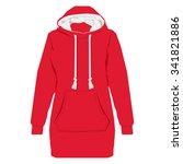 vector illustration red unisex... | Shutterstock .eps vector #341821886
