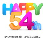 happy 54th title in big letters | Shutterstock . vector #341826062