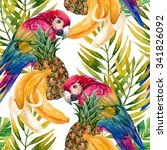 tropical background. seamless... | Shutterstock . vector #341826092