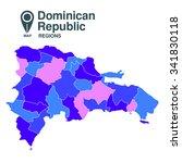 dominican republic map | Shutterstock .eps vector #341830118