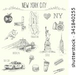 Hand Drawn New York City...
