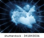geometry of virtual space... | Shutterstock . vector #341843036