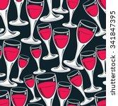 sophisticated wine goblets... | Shutterstock .eps vector #341847395