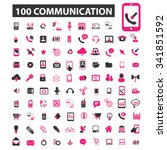 communication  connection ... | Shutterstock .eps vector #341851592