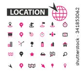 location  map  route  icons ... | Shutterstock .eps vector #341853062