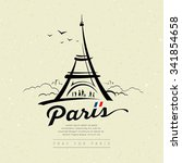 Eiffel Tower Sketch Design On...