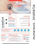 vector resume template. cv ... | Shutterstock .eps vector #341858726