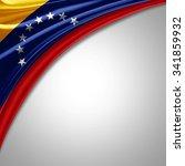 venezuela flag  of  silk with...   Shutterstock . vector #341859932