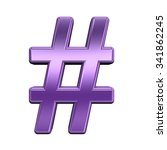 number mark from shiny purple... | Shutterstock . vector #341862245