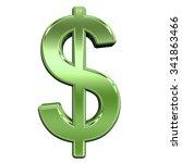 dollar sign from shiny green... | Shutterstock . vector #341863466