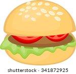 hamburger | Shutterstock .eps vector #341872925