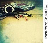 headphones and dj equipment ... | Shutterstock . vector #341880062