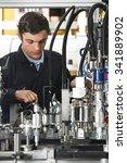 trainee engineer working on... | Shutterstock . vector #341889902