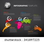 light world map infographic... | Shutterstock .eps vector #341897225