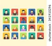 male and female avatars. trendy ... | Shutterstock .eps vector #341910296