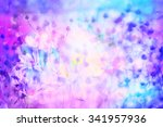 Stock photo dreamy beautiful background with meadow of flowers 341957936