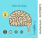 Stock vector path of idea vector illustration 341958872