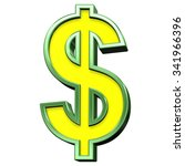 dollar sign from yellow with... | Shutterstock . vector #341966396