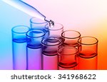 science laboratory test tubes | Shutterstock . vector #341968622