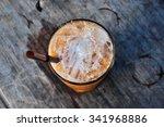 thai tea drinking on the old... | Shutterstock . vector #341968886