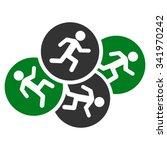 running men vector icon. style... | Shutterstock .eps vector #341970242