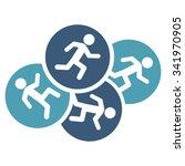 running men vector icon. style... | Shutterstock .eps vector #341970905