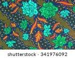 the beautiful of art malaysian... | Shutterstock . vector #341976092