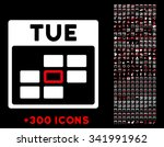 tuesday vector pictogram with... | Shutterstock .eps vector #341991962