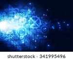 vector illustration hi tech... | Shutterstock .eps vector #341995496
