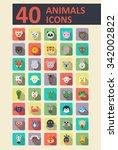 set of animals vector flat... | Shutterstock .eps vector #342002822