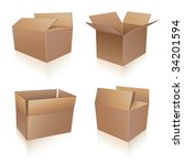 shipping boxes collection | Shutterstock .eps vector #34201594