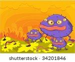 illustration of  a cartoon... | Shutterstock .eps vector #34201846