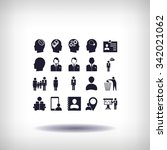 business man icons | Shutterstock .eps vector #342021062