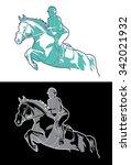 Stock vector riders on horseback labels emblems and logo illustration 342021932