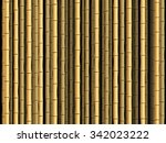 brown bamboo poles forest... | Shutterstock .eps vector #342023222