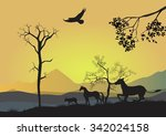 natural landscape vector... | Shutterstock .eps vector #342024158
