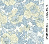 vector floral seamless pattern ... | Shutterstock .eps vector #342025076