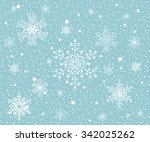 seamless winter background with ... | Shutterstock .eps vector #342025262