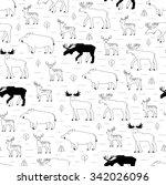 forest animals pattern | Shutterstock .eps vector #342026096