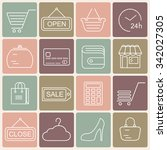 shopping line style icons....