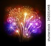 vector holiday firework   Shutterstock .eps vector #342031448
