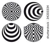 spirograph ornament tattoo... | Shutterstock .eps vector #34203334
